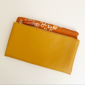 Rachel Pally yellow and orange floral clutch